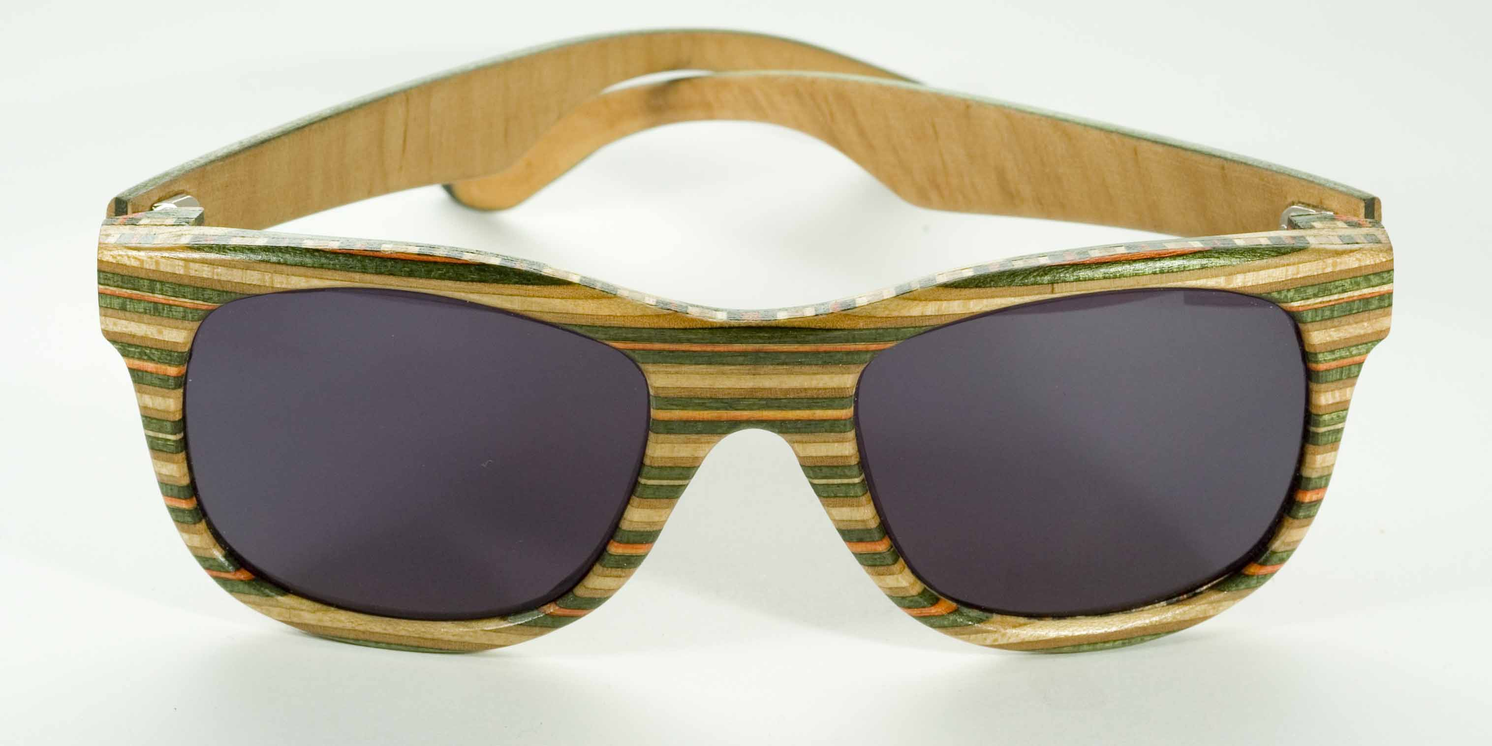 eef20ccd777 Wooden sunglasses from old skateboards