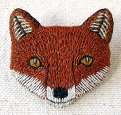finn fox brooch