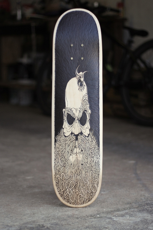 peckerhead skate board by skraal