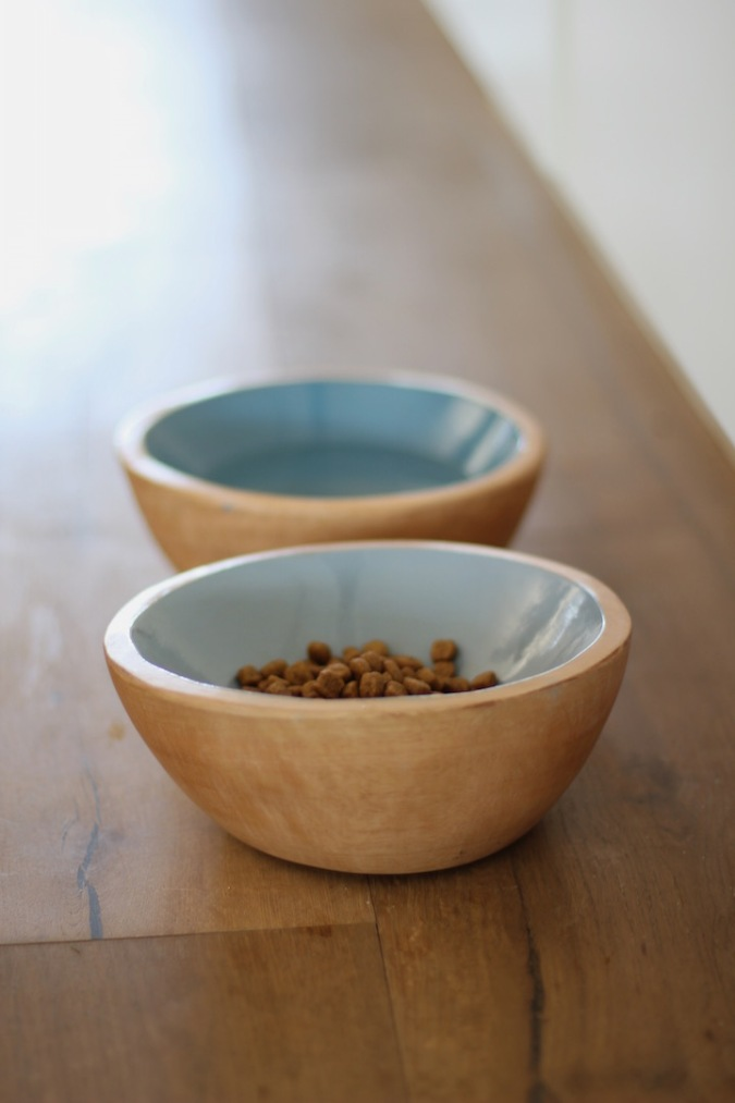 Benji + Moon | Handcrafted wooden dog bowls